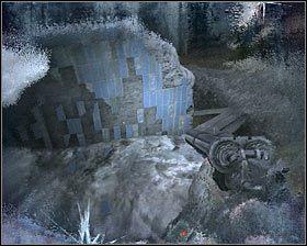 Powróć teraz na górę i przeskocz na znajdującą się przed Tobą nową półkę #1 - Dead City 1* (2) - Opis przejścia - Rozdział 2 - Metro 2033 - poradnik do gry