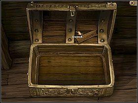 Simon znajduje się w zamkniętej na klucz kajucie kapitana na zacumowanym przy plaży statku - Wyspa (1) - Opis przejścia - Simon the Sorcerer 5: Kto nawiąże kontakt? - poradnik do gry