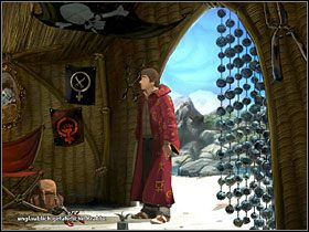 Wewnątrz okaże się, że to lokum Czerwonego Kapturka - Wyspa (1) - Opis przejścia - Simon the Sorcerer 5: Kto nawiąże kontakt? - poradnik do gry