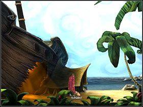 Simonowi zależy na tym, by dostać się do laboratorium i pogadać z wynalazcą - Wyspa (1) - Opis przejścia - Simon the Sorcerer 5: Kto nawiąże kontakt? - poradnik do gry