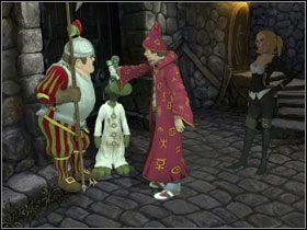 Wędruj teraz w lewo, tam gdzie przy zamkniętej bramie trzyma straż Franz - Magiczne Królestwo (2) - Opis przejścia - Simon the Sorcerer 5: Kto nawiąże kontakt? - poradnik do gry