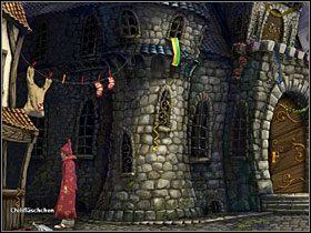 Poinformuj Waldena, że droga do szopy, w której ukryty jest jego pojazd, jest wolna - Magiczne Królestwo (2) - Opis przejścia - Simon the Sorcerer 5: Kto nawiąże kontakt? - poradnik do gry