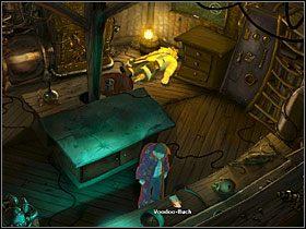 Po małym zamieszaniu, którego niefortunną ofiarą stał się wynalazca, rozejrzyj się po laboratorium - Wyspa (2) - Opis przejścia - Simon the Sorcerer 5: Kto nawiąże kontakt? - poradnik do gry