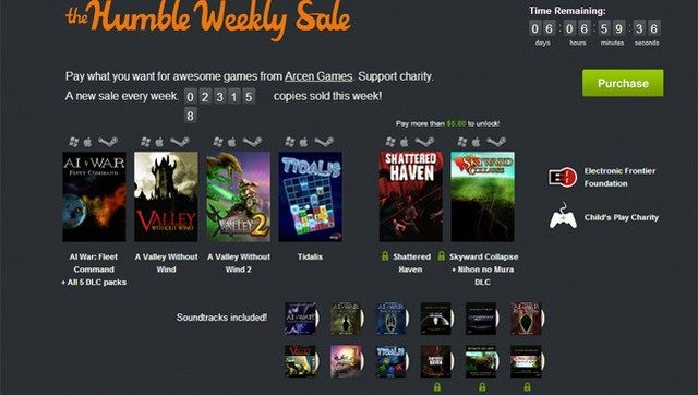 Promocja dobiegnie końca 12 września o godzinie 20:00. - Nowe The Humble Bundle z grami Arcen Games - m.in. AI War: Fleet Command, Skyward Collapse i Shattered Haven - wiadomość - 2013-09-06