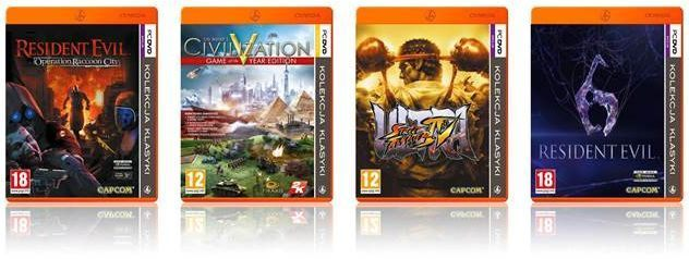 Ultra Street Fighter IV, Resident Evil: Operation Raccoon City, Resident Evil 6 oraz Sid Meier's Civilization V: Game of the Year Edition w Pomarańczowej Kolekcji Klasyki - ilustracja #1
