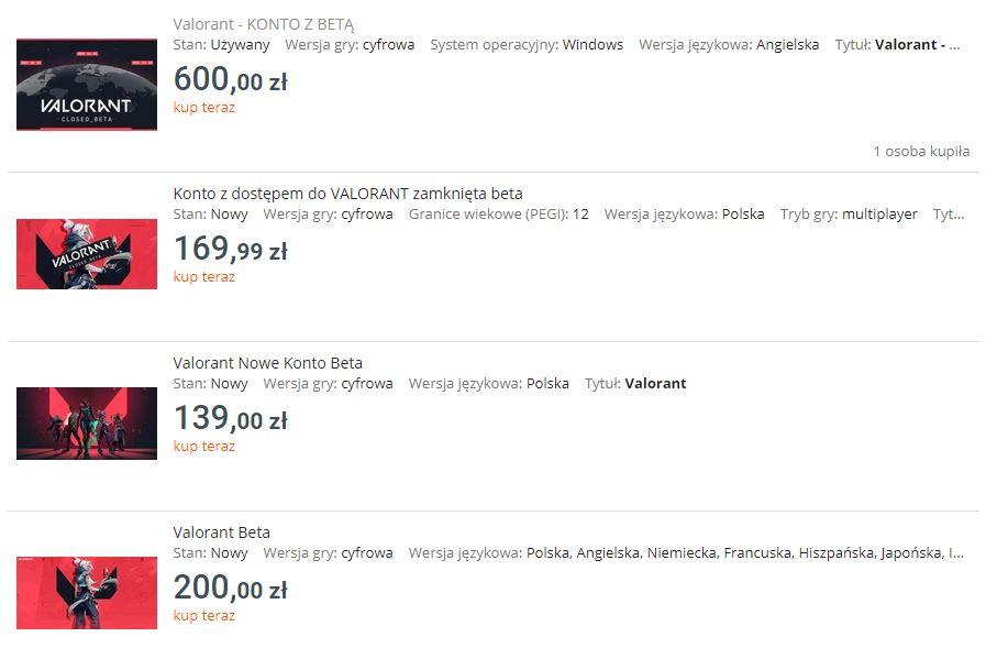 Riot Banuje Konta Z Beta Valorant Odsprzedawane Na Allegro I Ebay Gryonline Pl