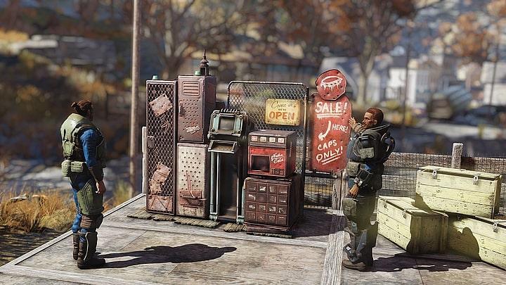 """""""Kupiec korzenny Emhyr var Emreis"""" - Fallout 76 niebawem otrzyma osobiste automaty sprzedażowe - wiadomość - 2019-05-03"""