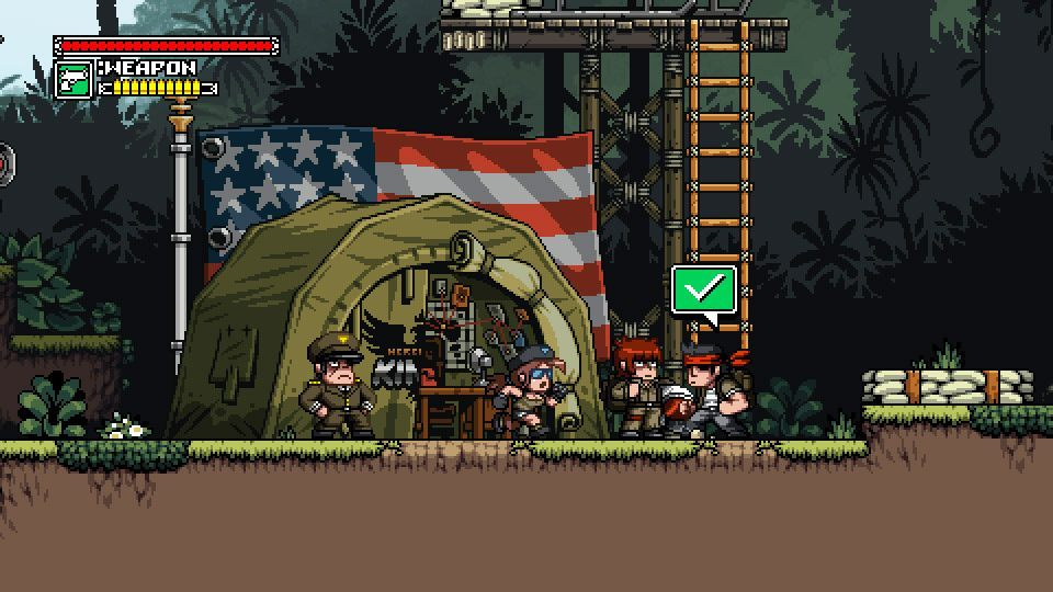 Mercenary Kings to oldskulowa, sidescrollowana strzelanina 2D. - Mercenary Kings – gra ukazała się z wczesnym dostępem w serwisie Steam - wiadomość - 2013-07-23