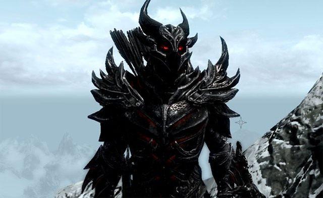Najlepsze cosplaye - Dovahkiin w zbroi Daedric z The Elder Scrolls V