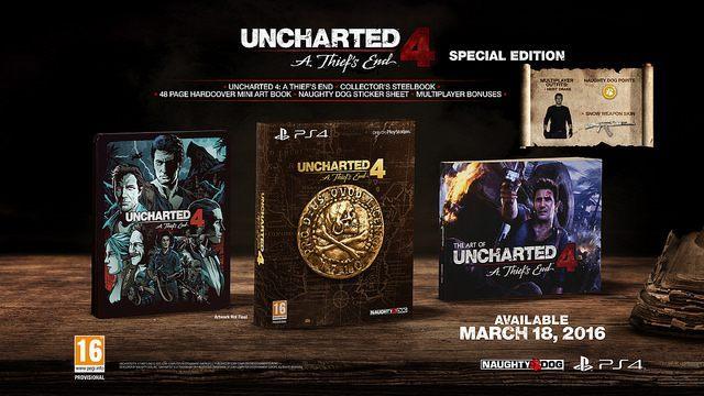 Uncharted 4: A Thief's End Special Edition - Uncharted 4: A Thief's End z oficjalną datą premiery i zawartością edycji kolekcjonerskich - wiadomość - 2015-08-31
