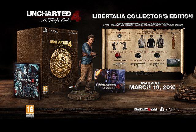Uncharted 4: A Thief's End Libertalia Collector's Edition - Uncharted 4: A Thief's End z oficjalną datą premiery i zawartością edycji kolekcjonerskich - wiadomość - 2015-08-31