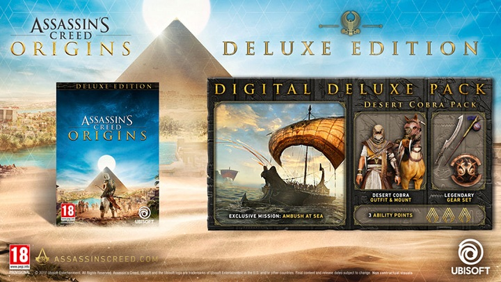 Cena Assassin's Creed: Origins – Deluxe Edition to niezwalające z nóg 279 zł. - Wszystko o Assassin's Creed Origins (premiera The Curse of Pharaohs) - Akt. #21 - wiadomość - 2018-03-13
