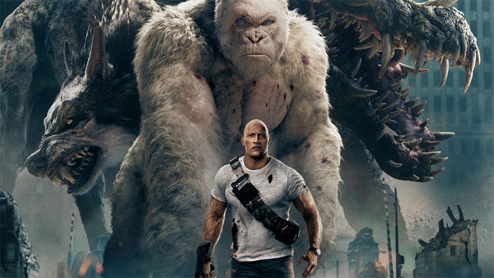 The Rock i jego goryl zdominowali amerykańskie kina w miniony weekend. - The Rock nie do zatrzymania - Rampage podbija box office - wiadomość - 2018-04-17
