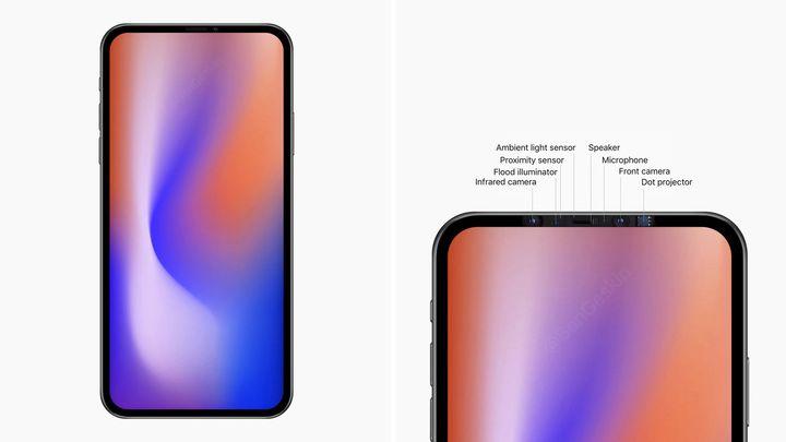 Telefon iPhone 12 mog¹ byæ pozbawione notcha / :ród³o: Benjamin Geskin, Twitter. - iPhone 12 prawdopodobnie bez notcha i z podœwietlanym logo Apple - wiadomoœæ - 2019-09-30