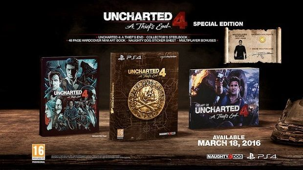 Uncharted 4: A Thief's End Special Edition.