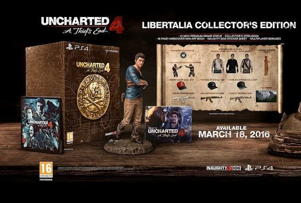 Zawartość Uncharted 4: A Thief's End Collector's Edition.