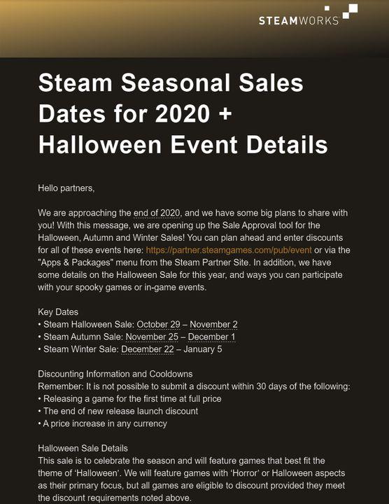 Halloween 2020 Daty Wyprzedaże Steam – wyciekły daty Halloween, Autumn i Winter Sale