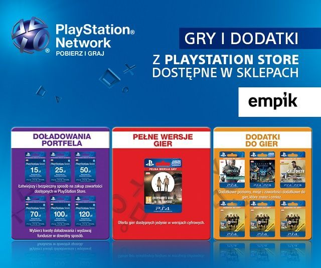 gry dodatki i zasilenie konta playstation store w salonach sieci empik. Black Bedroom Furniture Sets. Home Design Ideas