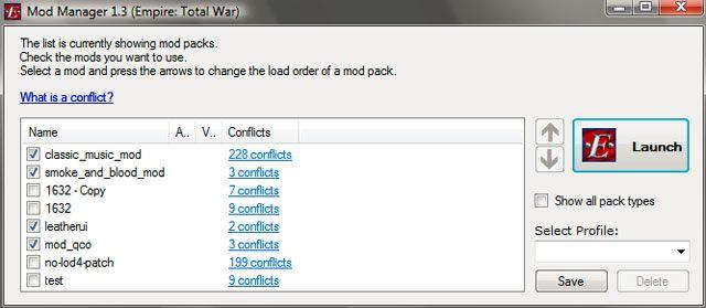 Empire: Total War GAME MOD Mod Manager v 1 5 - download