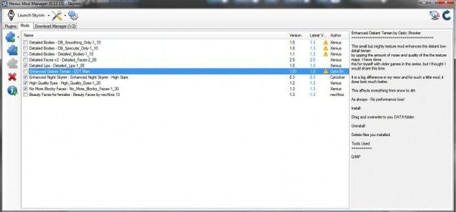 The Elder Scrolls V: Skyrim mod Nexus Mod Manager (0.456)