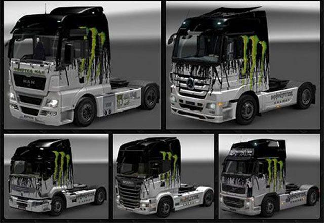 Euro Truck Simulator 2 Game Mod Monster Skin Pack V 5032015
