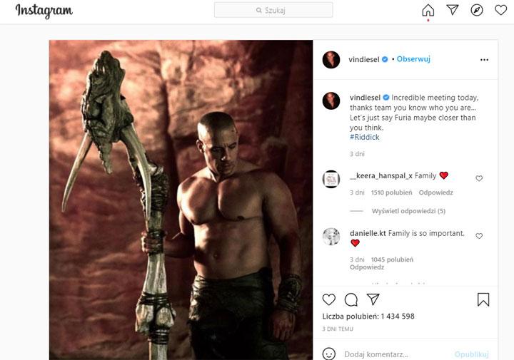 Vin Diesel daje fanom nadziejê, ¿e zobacz¹ film Riddick 4: Furya - ilustracja #1