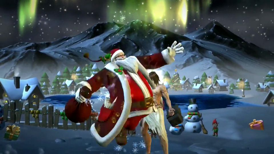 Fight of Gods Santa Claus
