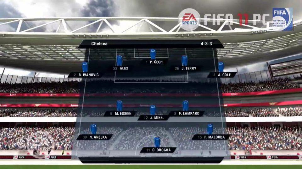FIFA 11 Arsenal vs Chelsea