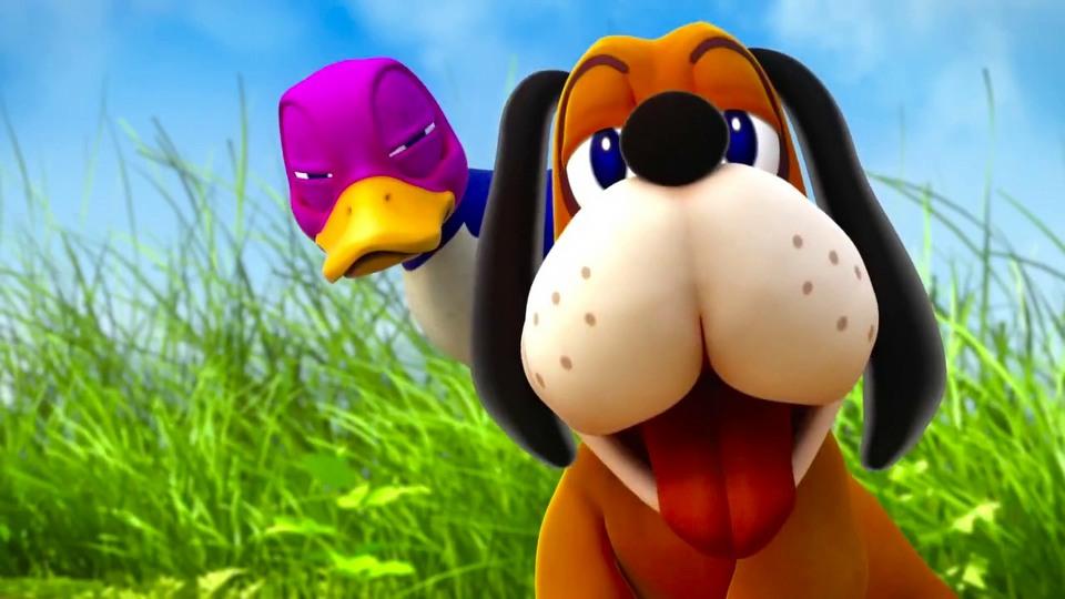 Super Smash Bros. Duck Hunt Dog trailer