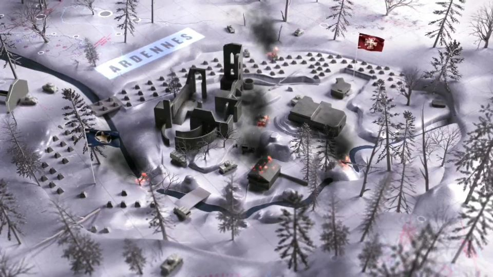 Call of Duty: WWII Ardennes Multiplayer Map Flythrough