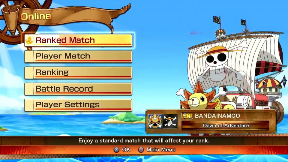 One Piece: Burning Blood Pirate Flag Battle