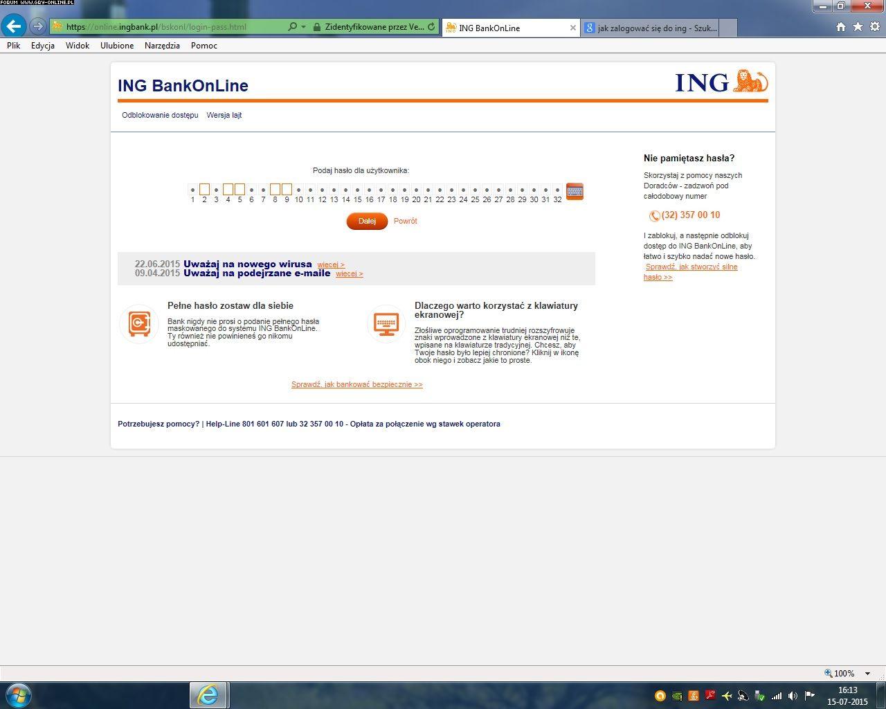 Ing Bank Online Logowanie