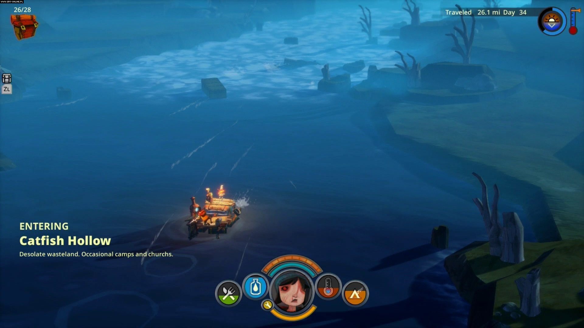 The Flame in the Flood PC, PS4, XONE, Switch Games Image 7/29, The Molasses Flood