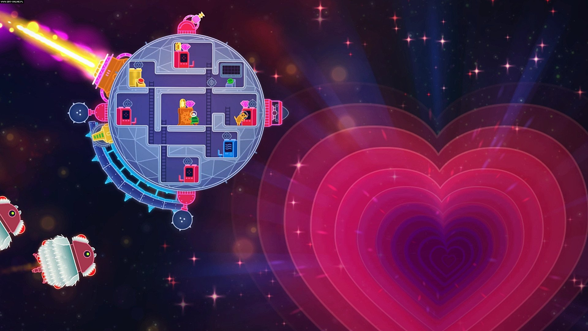 Lovers in a Dangerous Spacetime PC, PS4, XONE, Switch Games Image 4/10, Asteroid Base