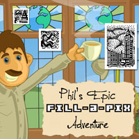 Fill-a-Pix: Phil's Epic Adventure Game Box