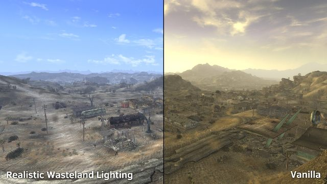 Fallout: New Vegas GAME MOD Realistic Wasteland Lighting v