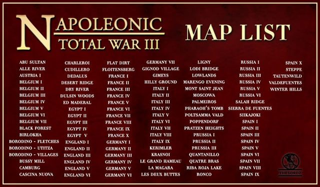 Napoleon total war game mod napoleonic total war iii map pack free download napoleonic total war iii map pack is a set of new maps for napoleonic total war iii which is a a mod for napoleon total war gumiabroncs Image collections