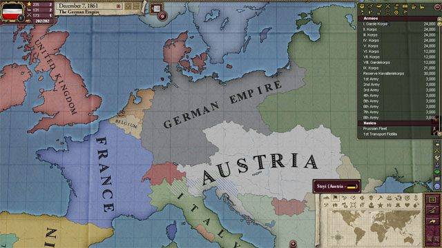 Victoria II: Heart of Darkness mod Blood and Iron v. beta