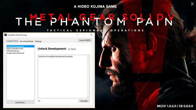 Metal Gear Solid V: The Phantom Pain mod Snakebite Mod Manager