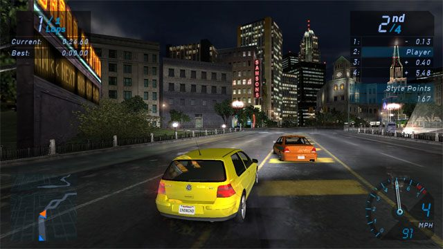 Need for Speed: Underground GAME MOD Widescreen patch