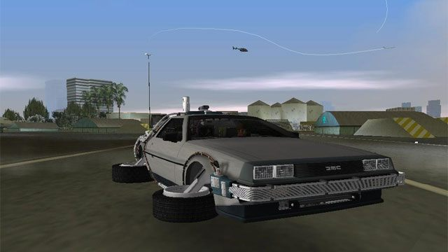 Grand Theft Auto Vice City Game Mod Back To The Future Hill