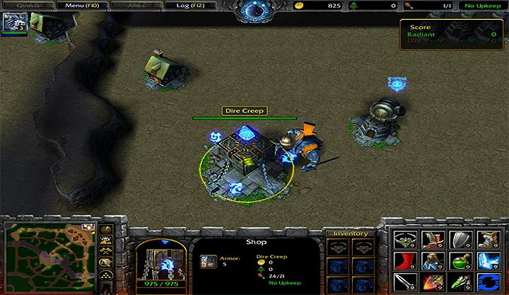 Warcraft III: The Frozen Throne GAME MOD Dota 2 remake 3vs3