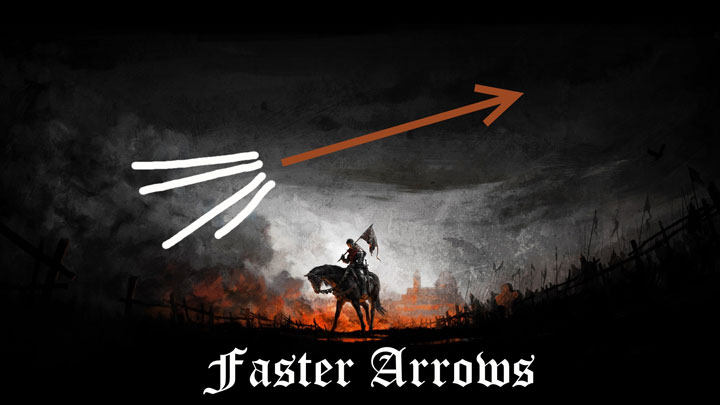 Kingdom Come: Deliverance mod Faster arrows v.1