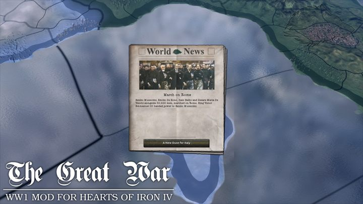 Hearts of Iron IV mod The Great War v.0.2.b1