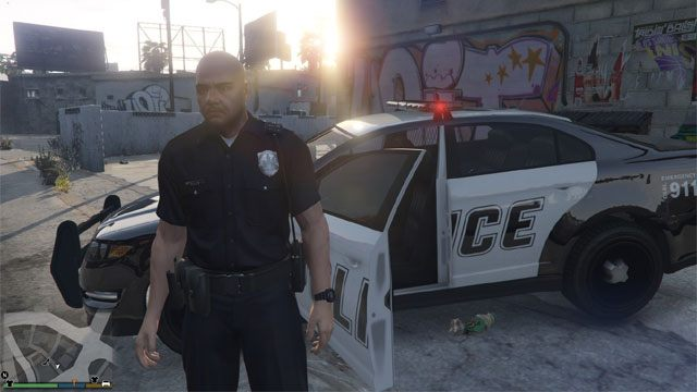 Grand Theft Auto V GAME MOD Police Mod v 1 0b - download