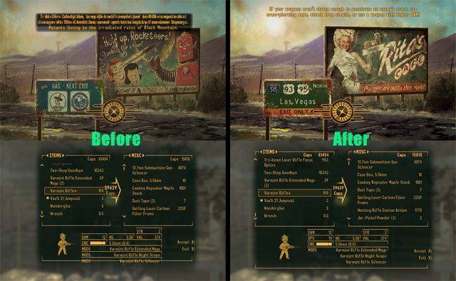 Fallout: New Vegas GAME MOD Vanilla UI Plus v 8 0 0