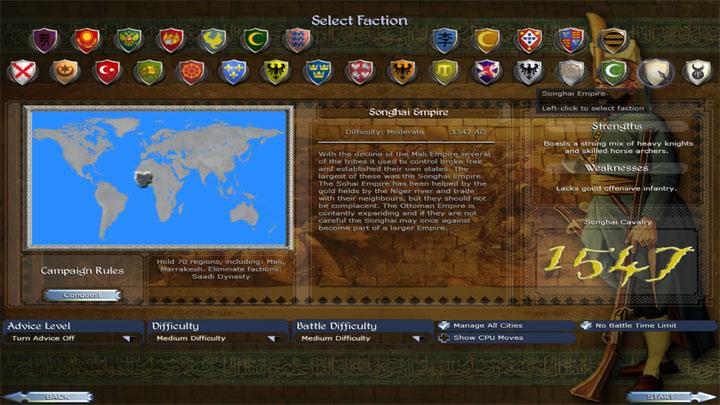 Medieval II: Total War - Kingdoms GAME MOD Eras Total Conquest v 2 3