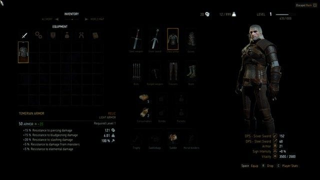 Wiedźmin 3: Dziki Gon mod Remove Weapon and Armor Level Restrictions v.1.03