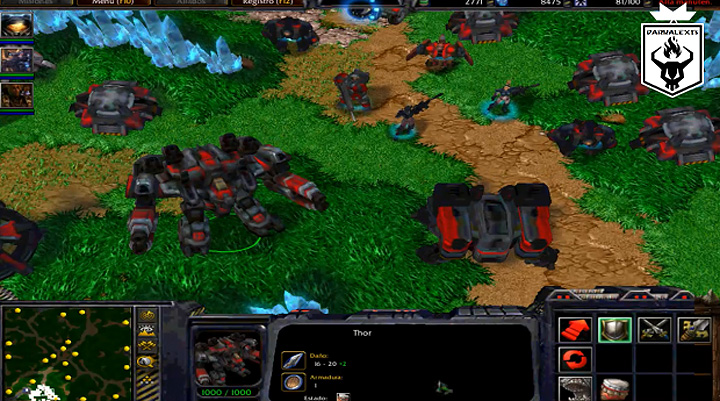 Warcraft III: The Frozen Throne mod Starcraft Omega