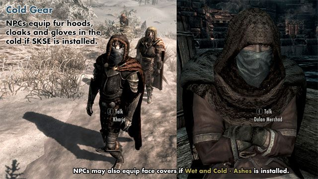 The Elder Scrolls V Skyrim Game Mod Wet And Cold V202 Download